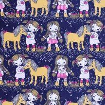 Pony & girls by Leena Renko