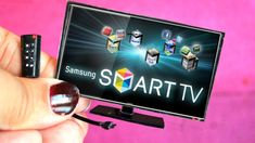 How to make a miniature tv and remote