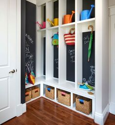 Personalize a Mudroom | Click Pic for 21 DIY Chalkboard Paint Ideas | Easy Decorating Ideas for The Home