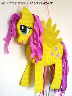My little pony, Fluttershy, with wings, pinata by PinjateNoviSad on Etsy