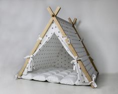 Items similar to Modern Dog House on Etsy Pet Beds, Dog Bed, Cat Teepee, Cat House Diy, Cat Furniture, Bedroom Furniture, Furniture Design, Diy Stuffed Animals, Dog Houses