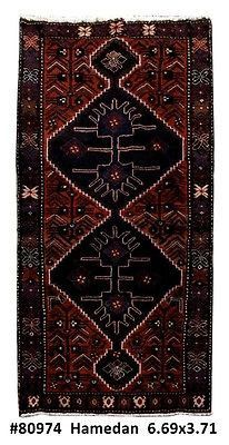 4' x 7' Persian Hamadan Carpet Most valuable Traditional Handmade Rug