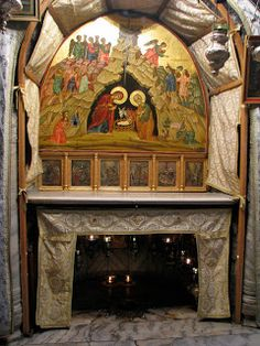 The Grotto of the Nativity where Jesus Christ, the only-begotten Son of God the Father, was born