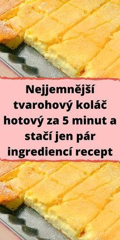 Quick Recipes, Raw Food Recipes, Easy Dinner Recipes, Easy Meals, Cooking Recipes, Czech Desserts, Sweet Desserts, Easy Desserts, Slovakian Food