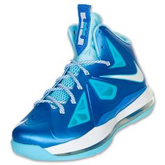 Nike LeBron X Kids' Basketball Shoes| FinishLine.com | Blue Diamond