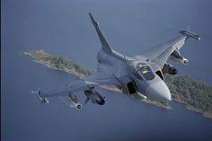 Saab looks to Gripen lease to kickstart Malaysia's MRCA programme Saab Jas 39 Gripen, Military Jets, Military Aircraft, Air Fighter, Fighter Jets, Saab 35 Draken, Brazilian Air Force, Reactor, Swedish Air Force