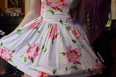 floral dress. ♡