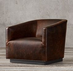 1950s Italian Shelter Arm Leather Chair Leather Swivel Chair, Leather Club Chairs, Leather Lounge, Ikea Chair, Diy Chair, Home Depot, Composite Adirondack Chairs, Overstuffed Chairs, Accent Chairs For Living Room