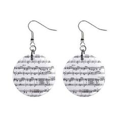 Amazon.com: New Musical Sheet Music Dangle Button Earrings Jewelry 13690090: Jewelry