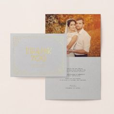 #wedding #thankyoucards - #Confetti Frame Art Deco Chic Wedding Thank You Foil Card