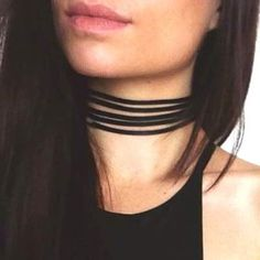 IDR 16.000 | Choker Pure Color Design Simple Multilayer Necklace  Black | Kalung | habibstore3.com Grosir Fashion Termurah dan Terbesar di Indonesia