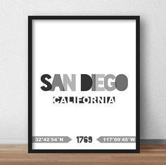 San Diego Print San Diego Printable San Diego Poster San