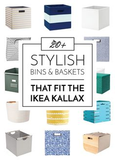 Inserts For the IKEA Kallax Ikea Kallax Boxes, Ikea Kallax Unit, Cube Storage Shelves, Vinyl Storage, Smart Storage, Storage Systems, Storage Solutions, Closet Solutions, Storage Ideas