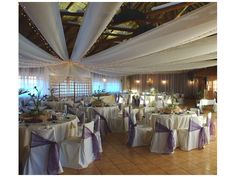 Decoración para bodas de color morado