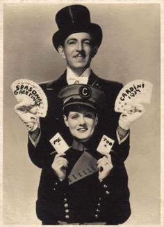 "Magician CARDINI and his wife. Perhaps my favorite photo of a ""magician and his lovely assistant""."