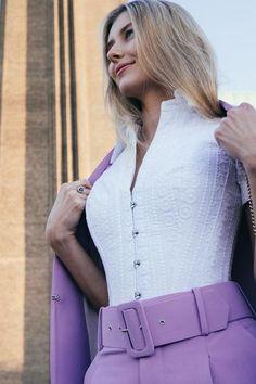 Powder Blue Corset Shirt – Corset Story US Beautiful Outfits, Cool Outfits, Corset Shirt, Blue Corset, Blazers, Classic White Shirt, Lace Tights, Overbust Corset, Flattering Dresses