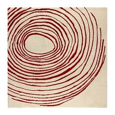 IKEA EIVOR CIRKEL Rug, high pile White/red cm The dense, thick pile dampens sound and provides a soft surface to walk on. Ikea Rug, Medium Rugs, Circle Rug, Professional Carpet Cleaning, Diy Case, Red Art, Red Rugs, Rugs In Living Room, Bedroom Rugs