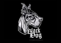 BLACK DOG - Illustration & Logo Contest 2012 by Nicolas Dubuisson, via Behance