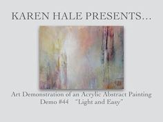 Abstract Acrylic Painting Demonstration - with layers and layers #44 - YouTube