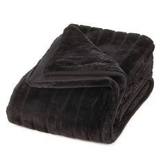 Black Faux Fur Blanket @ HomeExpressionsOnline.com