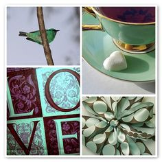 Things I love Thursday - LOVE, tea, hearts, birds, presents with lovely bows, green and brown....and the list goes on....., via Flickr.