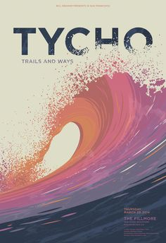 Poster artwork for Tycho's show at The Fillmore in San Francisco on March 20, 2014 by Matthew Fleming (http://matthewjayfleming.com/post/80271490635/poster-artwork-for-tychos-show-at-the-fillmore-in#.UyxwsnSu42w.facebook)