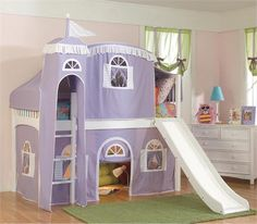 Create the ultimate hang out spot for your kid's room with the Windsor Loft System!  Your child will love having this cool tent loft in his or her bedroom