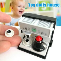 1//12 Dollhouse Miniature Coffee Machine Toy Kitchen Mixer Toy LE