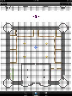 Castle floor plan for Minecraft with towers connected by corridors
