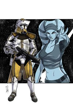 Commanders and Generals: Bly and Aayla Color by Hodges-Art on deviantART