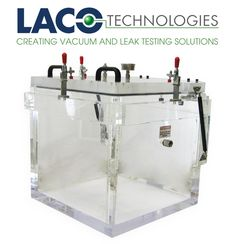 "LVC202020-1122-CC 20"" X 20"" CC VACUUM CHAMBER (HINGED) - LACO's Cube Clear (CC) series vacuum chambers feature a cube design and rugged cast acrylic construction. The 20"" x 20"" x 20"" clear acrylic material allows for a full view of your application."