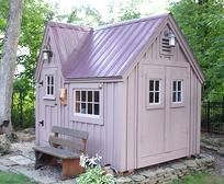 8x8 Dollhouse. Example shows optional Brandywine metal roofing + extra doors. Available as Plans, Kits - 2 people 20 hours + Fully Assembled in the northeast. Kits ship *Free in the continental US + eastern Canada. http://jamaicacottageshop.com/shop/doll-house-option-1/ http://cdn.jamaicacottageshop.com/wp-content/uploads/pdfs/pdf8x8dh.pdf http://jamaicacottageshop.com/free-shipping/ #playhouse #jamaicacottageshop #gardenshed #shedkit #shed