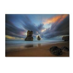Lincoln Harrison 'Beach at Sunset 2' Art