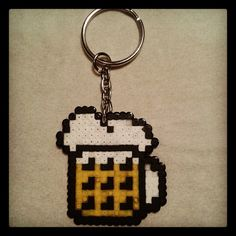 Beer keychain hama mini beads by bmxpunker