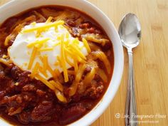 Slow-Cooker Chili - Love, Pomegranate House