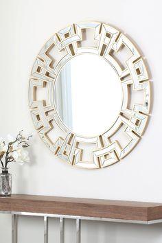 Mandy Gold Round Wall Mirror on @HauteLook