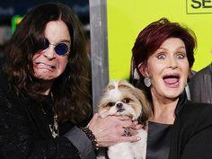 Ozzy and Sharon Osbourne with Bonny the Shih Tzu