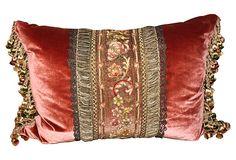 Pillow w/ 19th-C. French Metallic Lace on OneKingsLane.com