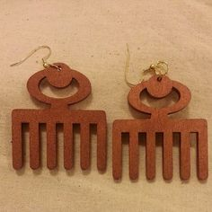 Smaller Duafe Comb Wood Earrings by JewelsByLisaLucy on Etsy