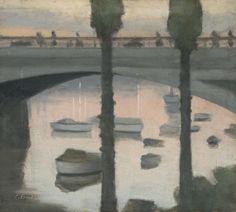 'Princes Bridge' by Clarice Beckett, 1930. Oil on board.