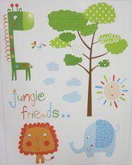 Stickers de animales para habitaciones de niños de la marca Scenes