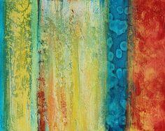 Abstract acrylic painting fine artcanvas by avaavadonstudio, $385.00