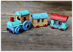 Мастерим паровозик для мишутки - Ярмарка Мастеров - ручная работа, handmade