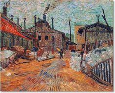 Vincent van Gogh Usine d'Asnières Riproduzione a olio, qualità museale
