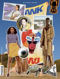 on TANK Magazine's 'Well Travelled' Cover. by Sergiy Barchuk Photoshop Design, Graphic Design Posters, Graphic Design Inspiration, Banner Design, Layout Design, Collage Design, A Level Art, Fashion Collage, Social Media Design