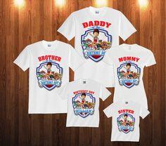 Paw Patrol Birthday Long Sleeve Shirt, Custom personalized t-shirts for all family, p2