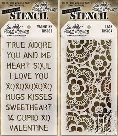 CHA 2015 Sneak Peek   Sizzix Alterations   www.timholtz.com. Valentine and Lace stencils