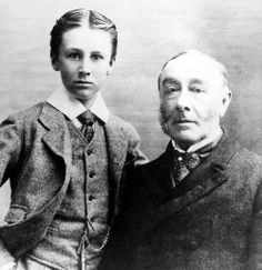 Franklin Delano Roosevelt with father James Roosevelt, 1885. Source:  Franklin D. Roosevelt Library