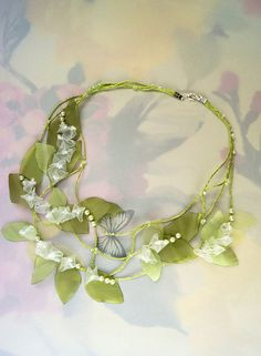 vintage wedding Lilly of The Valley and Gray by FiveOClocks, $65.00