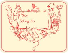 free printable vintage book tags for kids and students – Vintage Buchetiketten für Kinder und Schüler – freebies